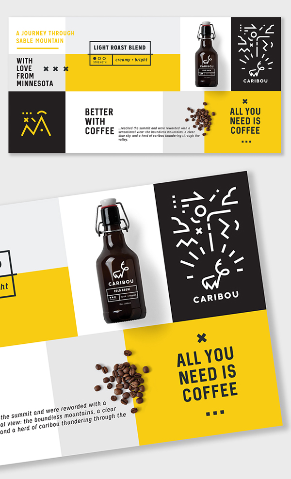 Branding: Caribou Coffee - Business Card -