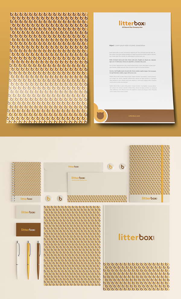 Branding: Litterbox - Stationary Items -