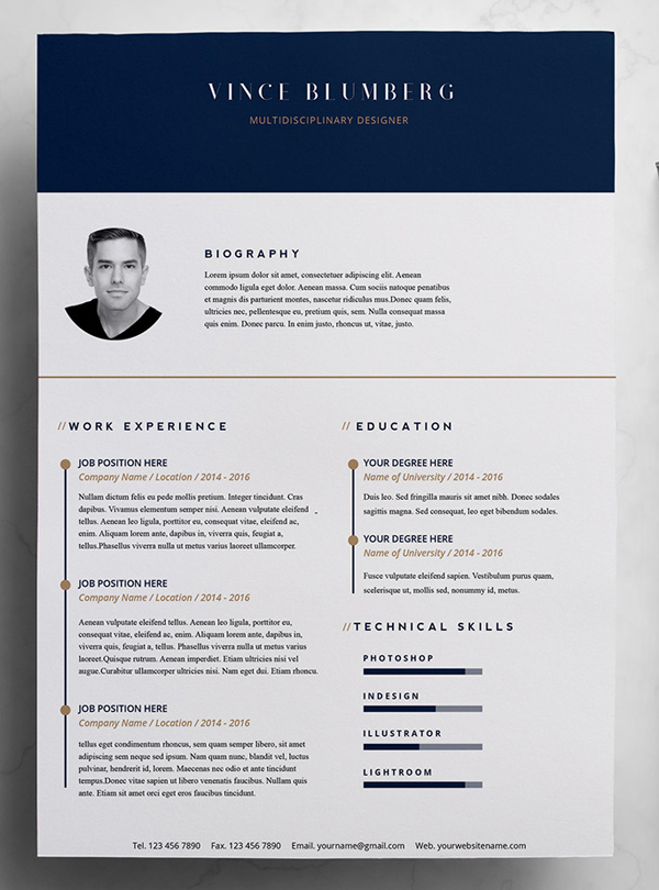 23 Free Creative Resume Templates With Cover Letter Freebies Graphic Design Junction