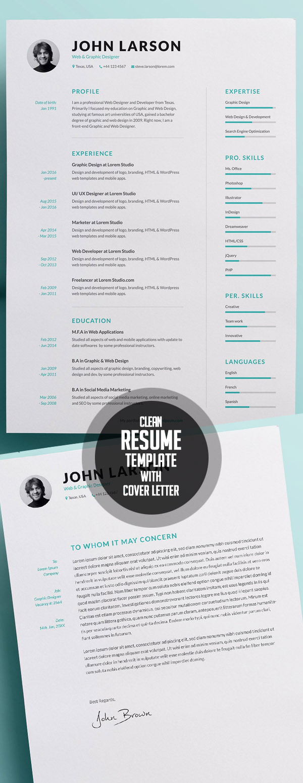 easy to use resume template