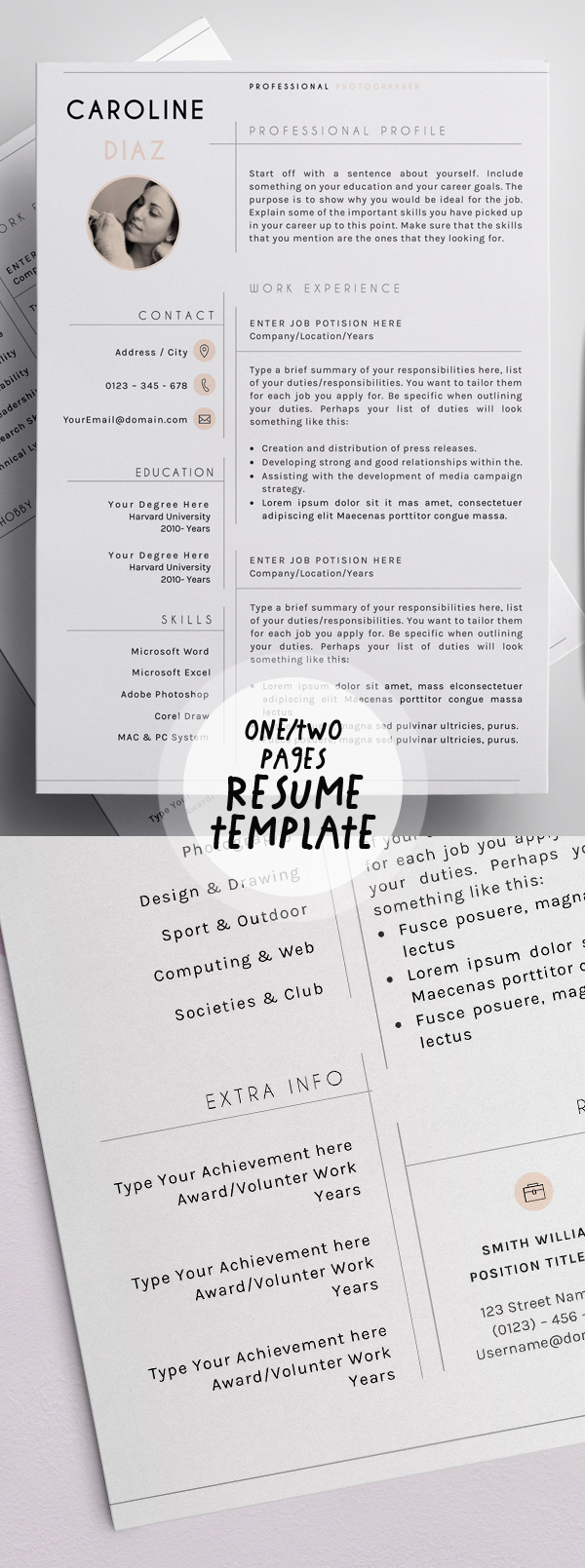 resume template for versatile