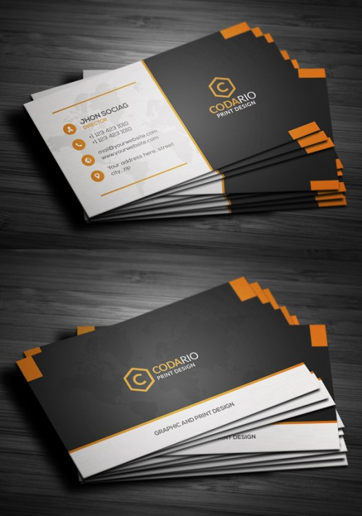 25 elegant business cards psd templates mixed sign modern creative business cards reheart Image collections