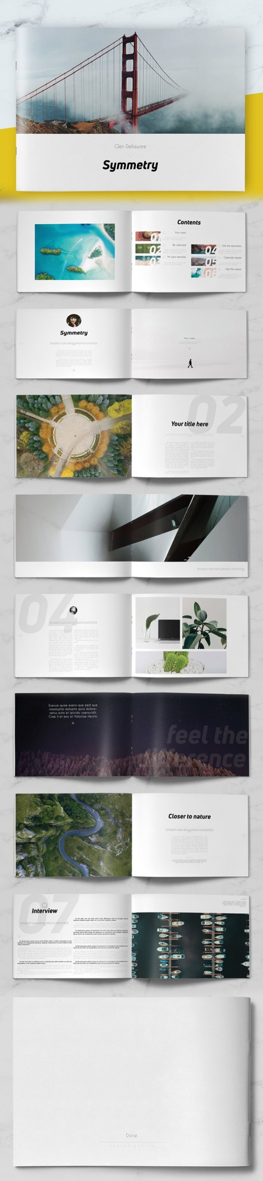 Creative Photography Booklet And Brochure Templates Mixed Sign - Portfolio brochure template