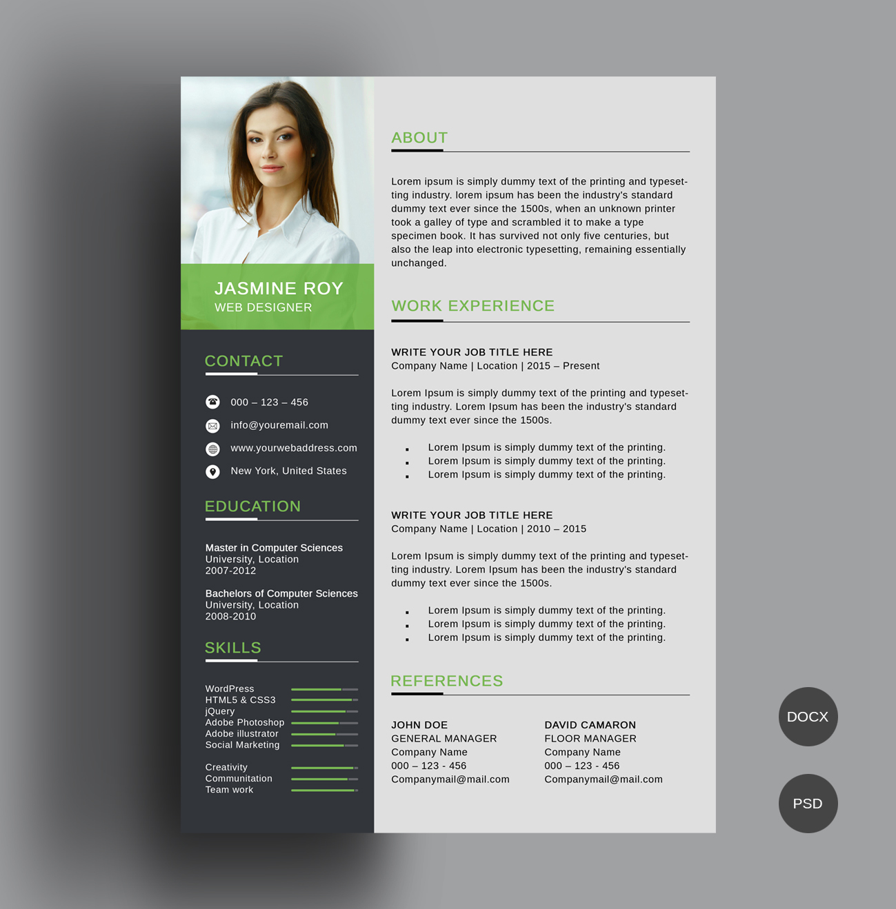 make your own resume template word
