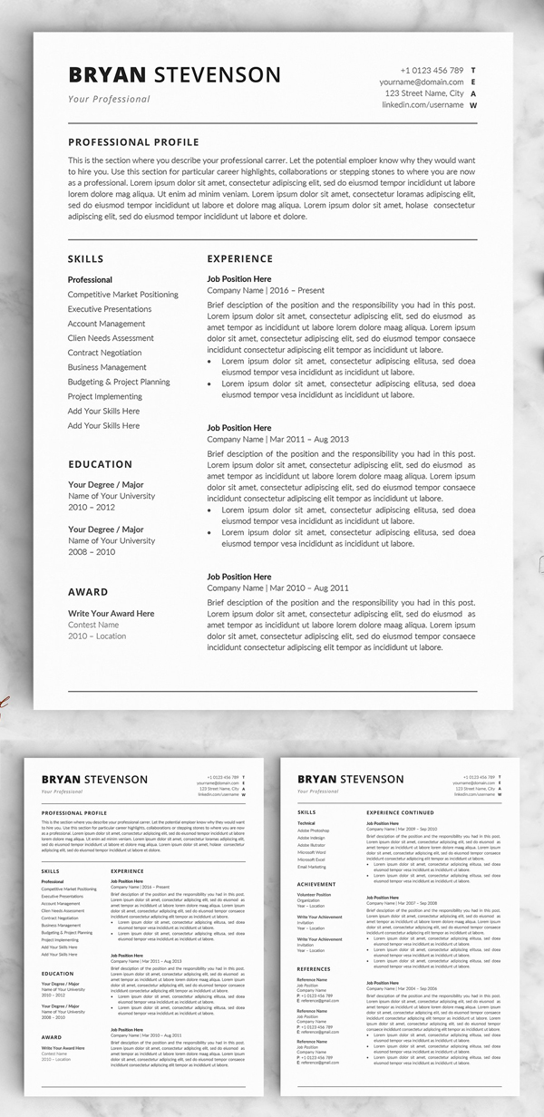 microsoft resume templates 2019 download