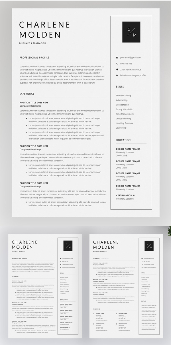free resume templates photoshop 2019