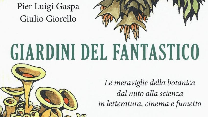 """Particolare della copertina del libro """"Giardini del fantastico"""""""