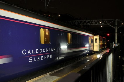 Caledonian Sleeper train at Euston