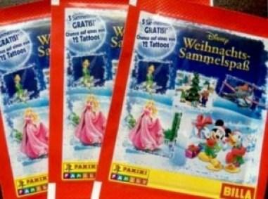 Billa Natale Panini Stickers