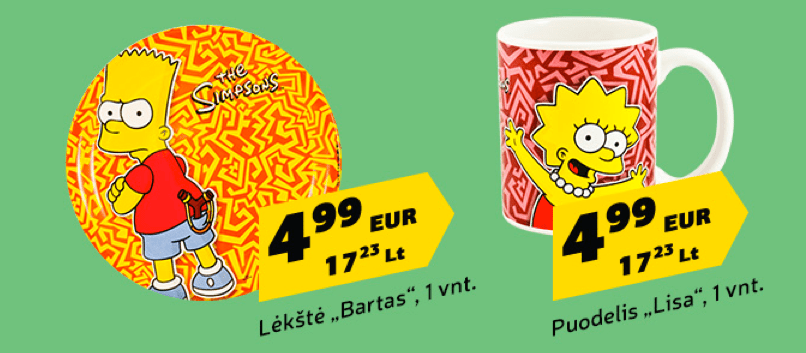 IKI Simpsons Mug e piatto