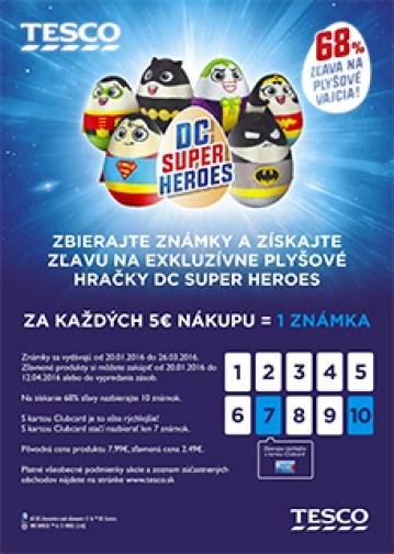 Tesco SK Super Heroes cardcard-sk