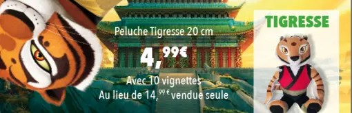 Auchan DreamWorks Peluche Tigresse
