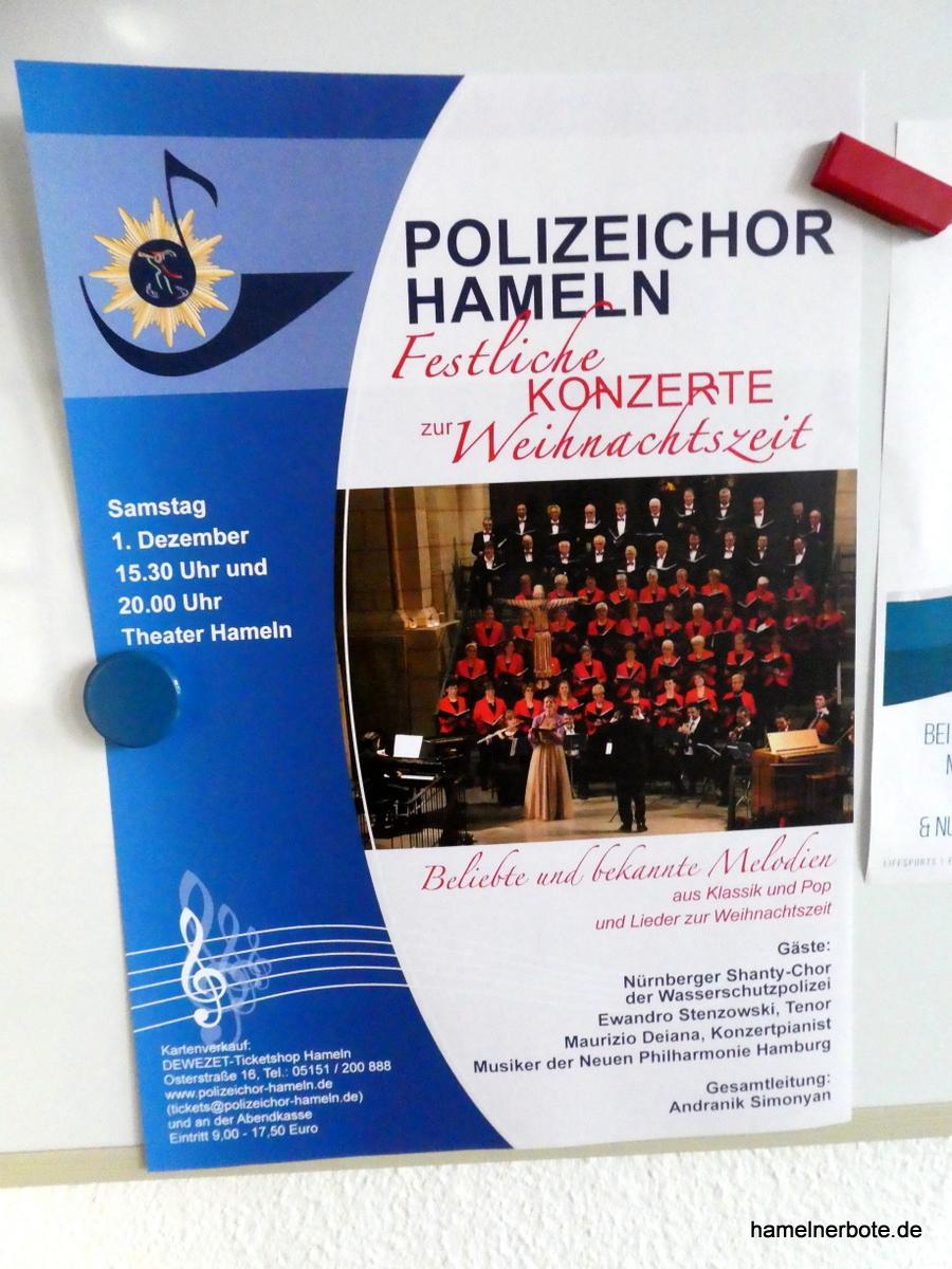 Veranstaltungshinweis: Polizeichor Hameln – Weihnachtskonzert am 1.12.2018