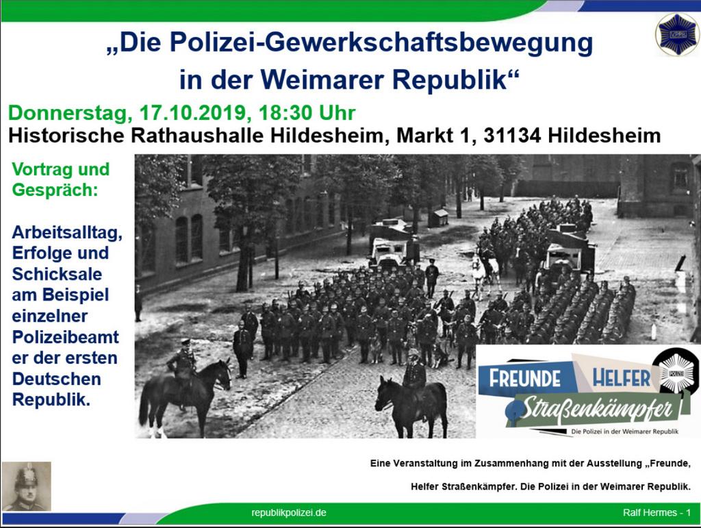 """""""Die Polizei-Gewerkschaftsbewegung in der Weimarer Republik"""""""