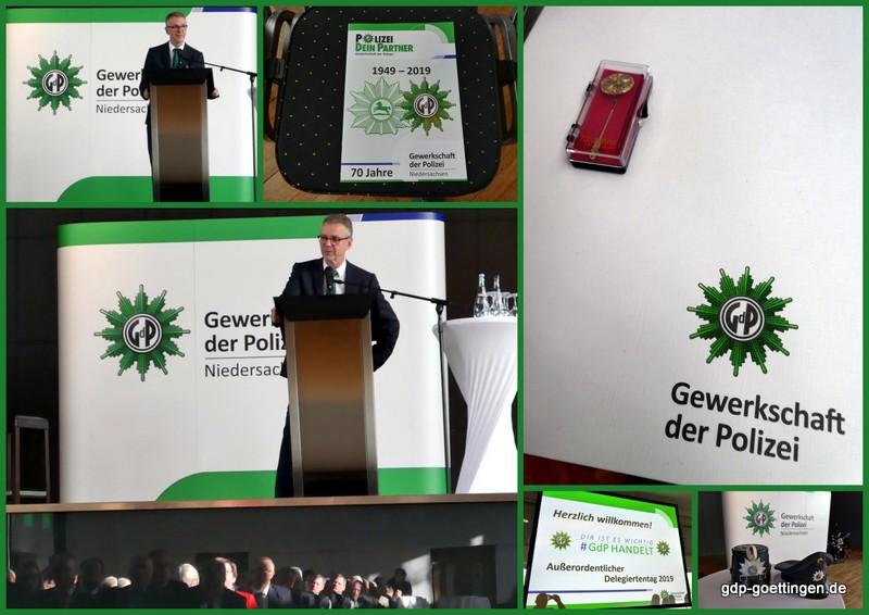 """""""In Treue fest"""" – Festvortrag Dr. Dirk Götting zum 70. Jahrestag der GdP Niedersachsen"""