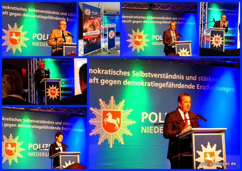 Bilder und Presseberichte – Polizeischutz für die Demokratie