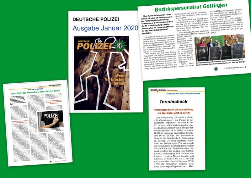 Wichtige Personalratsinfo im Niedersachsenteil der Deutschen Polizei 1/2020