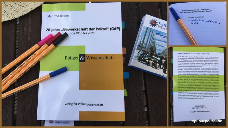 """Buchvorstellung: """"70 Jahre Gewerkschaft der Polizei"""", Autor: Manfred Reuter."""