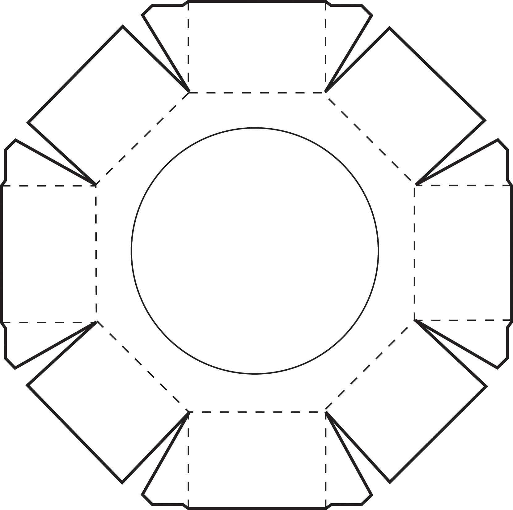 Octagon box template