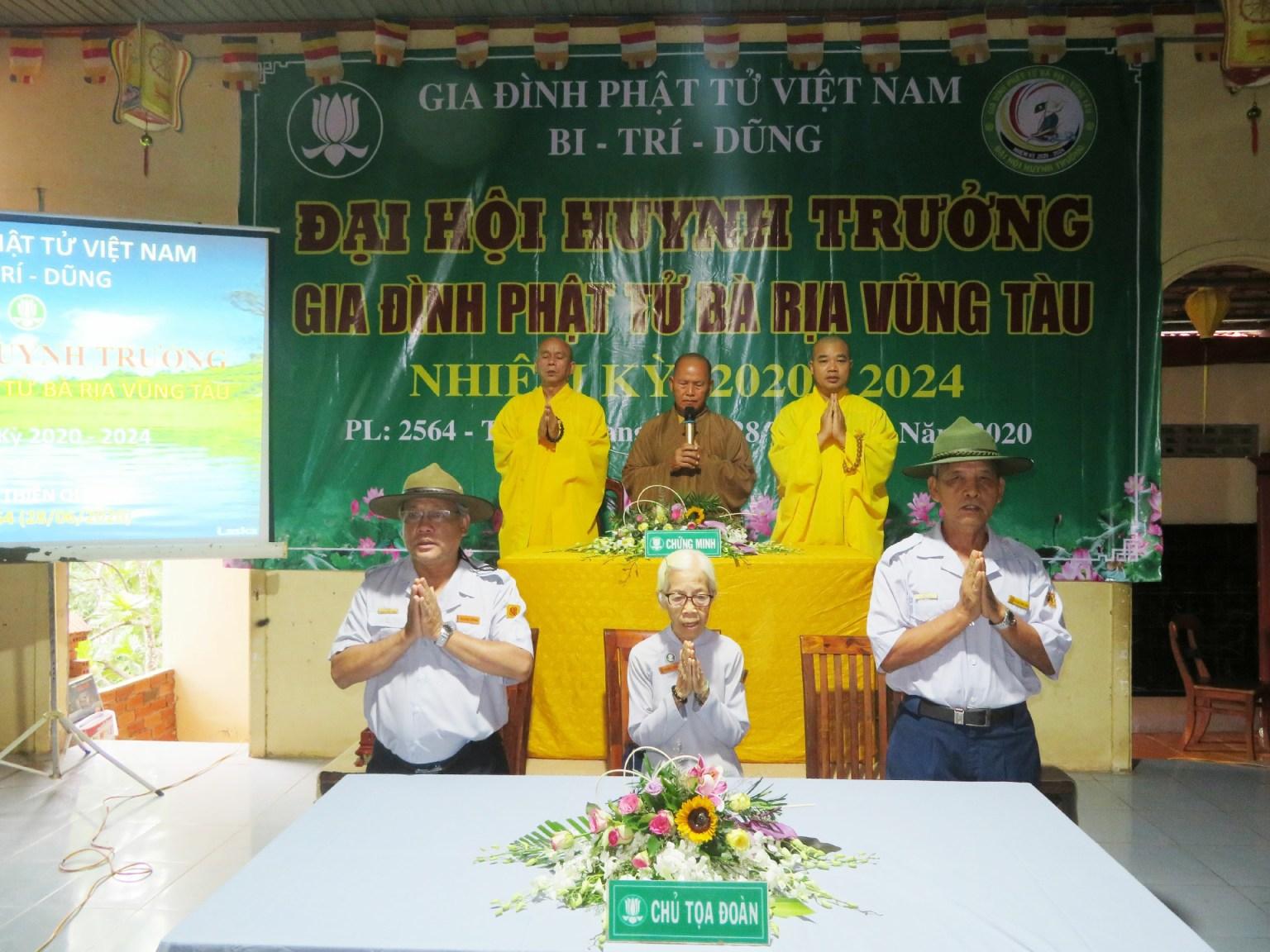 GĐPT Bà Rịa Vũng Tàu tổ chức Đại hội Huynh trưởng Nhiệm kỳ 2020-2024