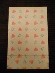 Hand-printed paper bag, provenance unknown (29 cm X 18.5 cm)