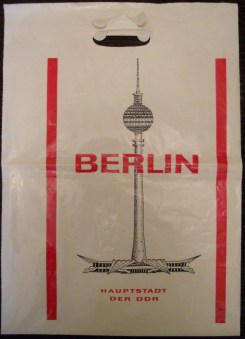 Polyethylene bag from the Berlin TV Tower (42 cm X 30 cm)