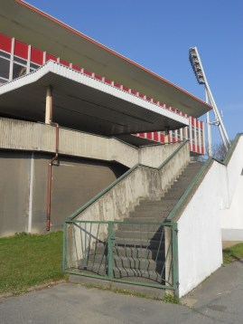 Stairway to (East German football) heaven at Jahn Sportpark (photo: author).
