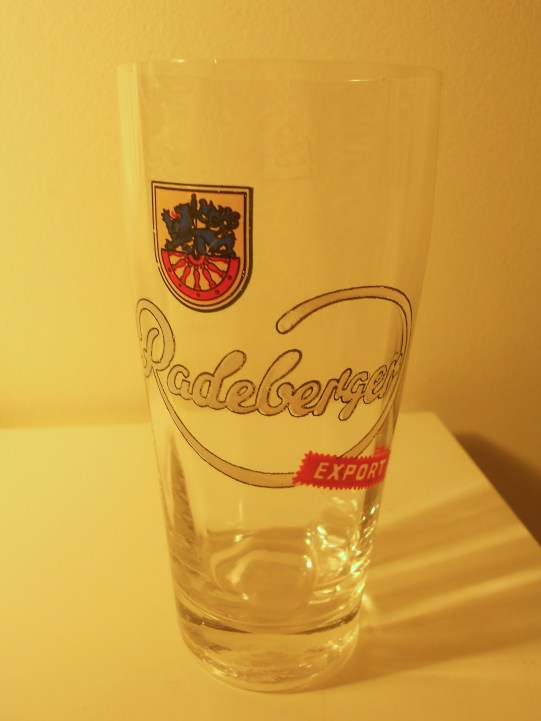 Radeberger Pilsener, brewed near Dresden, was one of the GDR's best beers and largely earmarked for export. Had the Demons tried to wet their whistles at the Palace of the Republic, they might have been able to try one, but chances are the local pubs they drank at served (East) Berliner Kindl (photo: author).