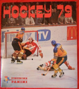 Panini's one and only hockey sticker album, created for the 1979 World Championships (from collection of author)
