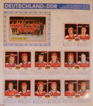 East Germany's national team page from the Hockey 79 album.