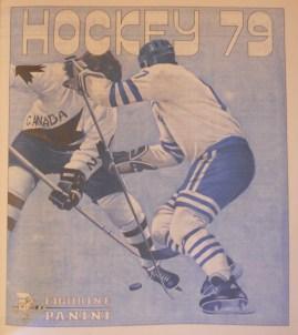 Page from Panini's Hockey 79 album.