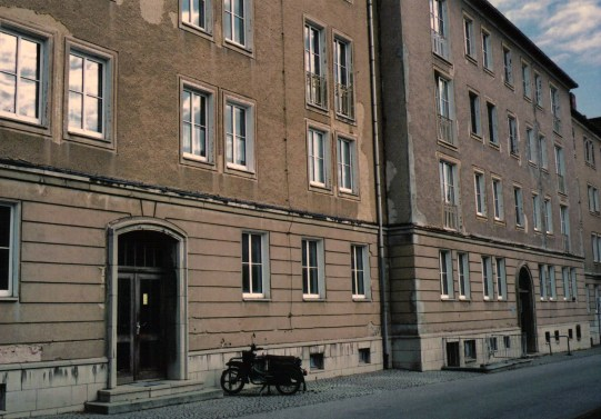 Frau K's building in WK I; note the GDR-era moped parked next to entrance (photo: author)