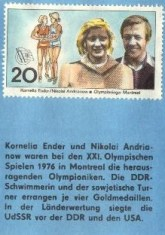 Heroes of the 1976 Montreal Games: Kornelia Ender (GDR swimmer) and Nikolai Andrianow (USSR gymnast).