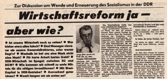 Junge Welt - Nov 7 89 Wirtschaft