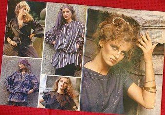 Spread of spring fashions from collection produced by GDR Fashion Institute, from Sibylle 1 1982 (photo: R. Newson)