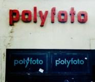 Dilapidated neon advertising shop offering photofinishing services, Leipzig's Hainstrasse, 1999 (photo: M. Bomke).