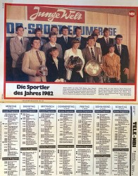 Athletes of the Year for 1982 above the week's TV listings (NBI 52 82, photo: R. Newson).