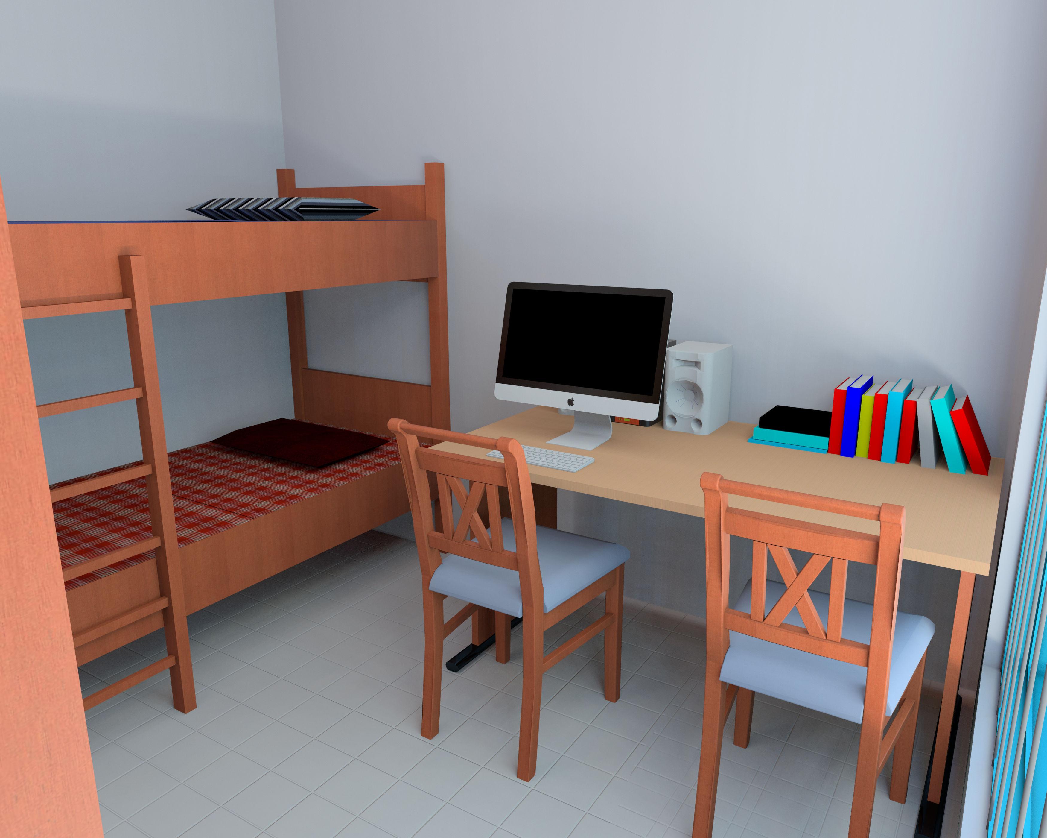 Simple Interior Room Design Of A Student Hostel Autodesk