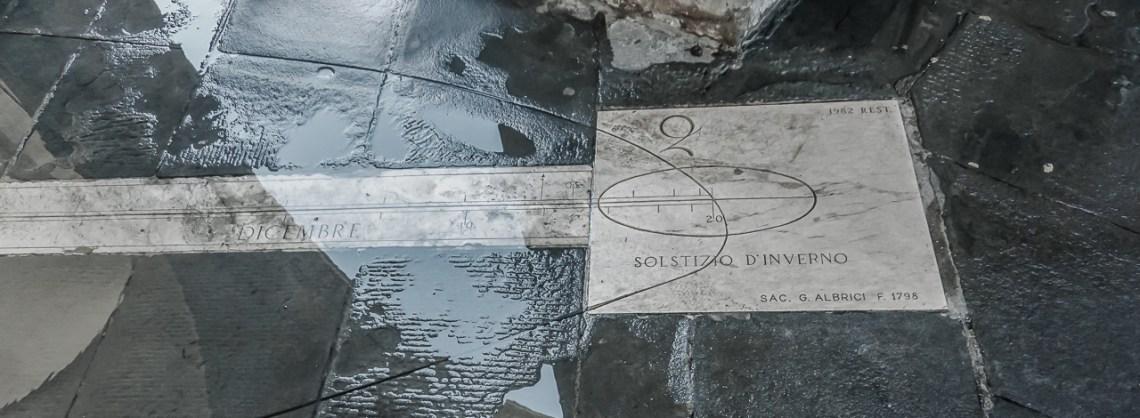 Kalendarz astronomiczny na Citta Alta Bergamo