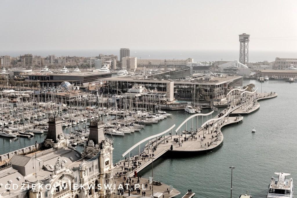 Port - widok z Pomnika Kolumba
