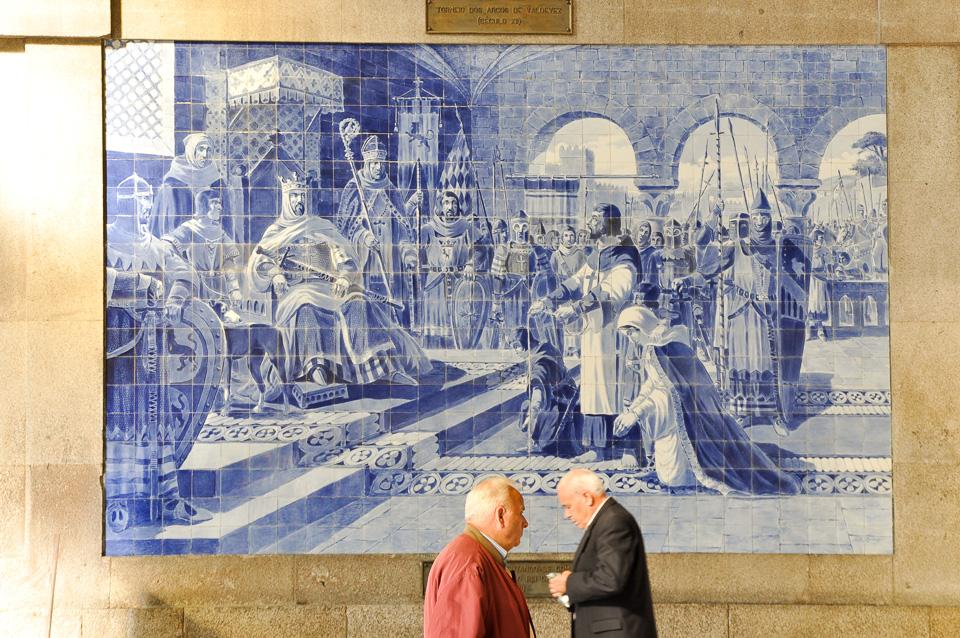 Azulejos (płytki) na dworcu kolejowym