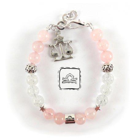 Bracciale Zodiaco Bilancia Quarzo rosa