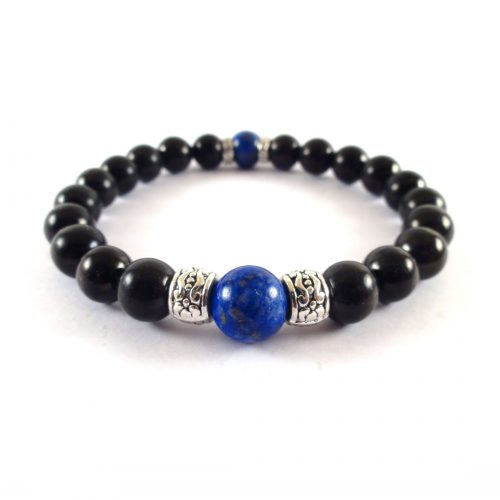 Braccialetto Shungite e Lapis Lazuli