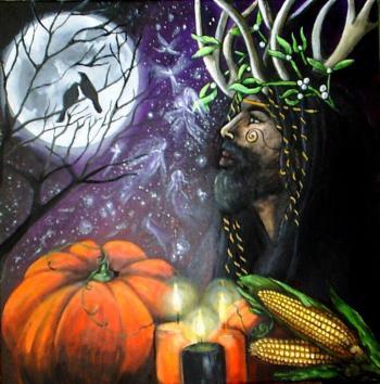 Samhain zucca Cernunno