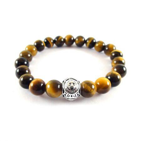 Bracciale Zodiaco Leone Uomo Tigereye