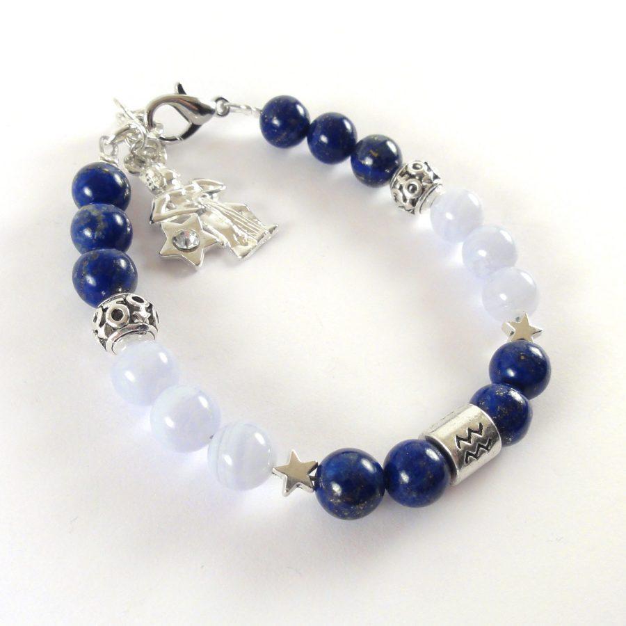 Bracciale Zodiaco donna Acquario blu