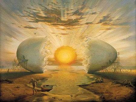 Uovo cosmico aurora