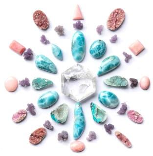 Griglia pietre Cristalloterapia