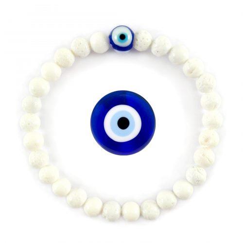 Braccialetto con occhio blu greco