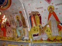 Biserica de lemn - interior - sat Lacu